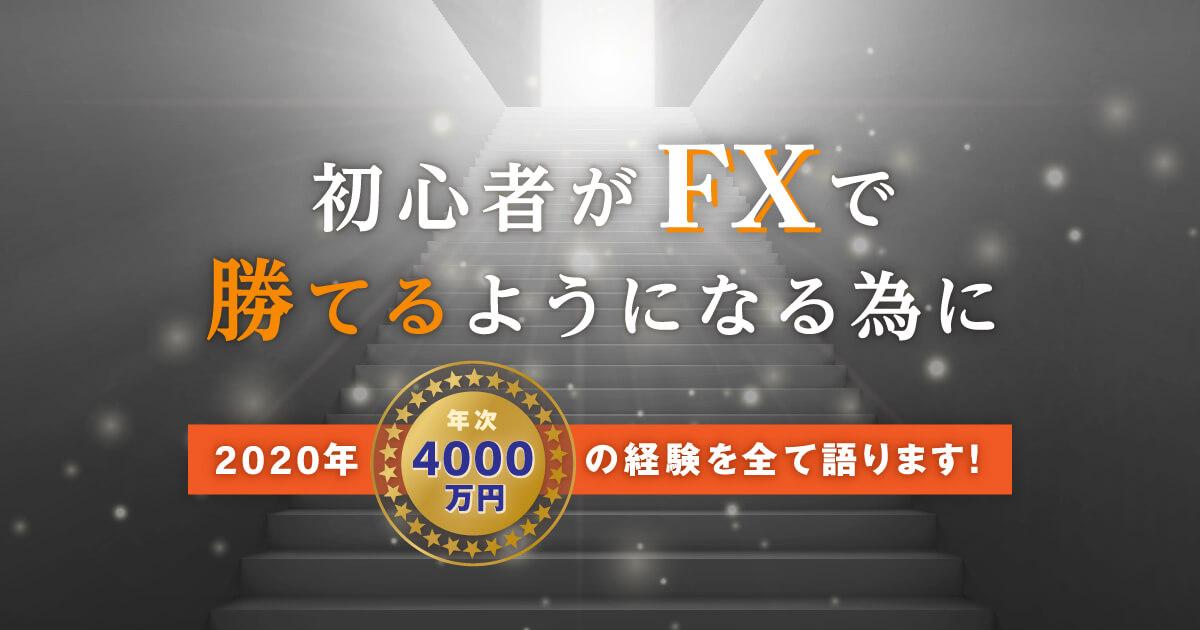 年次4000万の経験談!初心者がFXで勝てる様になる為の手法について。